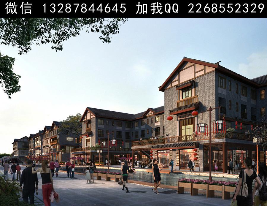 古建商业街设计案例效果图